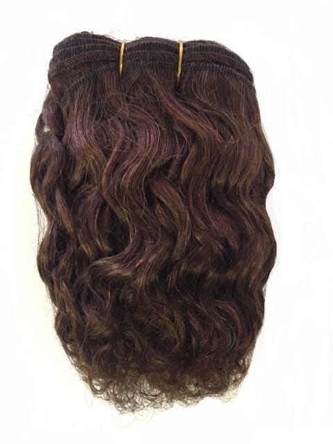 Mohair Doll Hair Weft - Curly Dark Brown