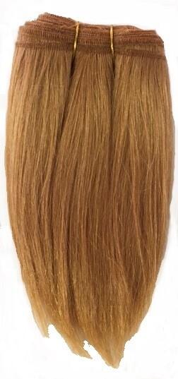 Mohair Doll Hair Weft -- Ginger Straight