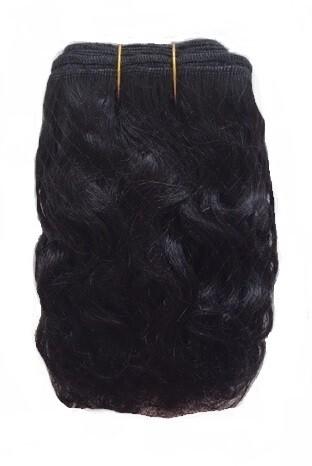 Mohair Doll Hair Weft -- Curly Raven