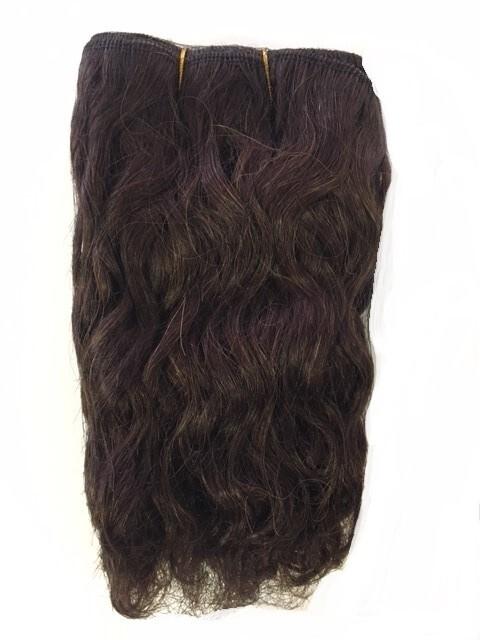 Mohair Doll Hair Weft -- Curly Chocolate