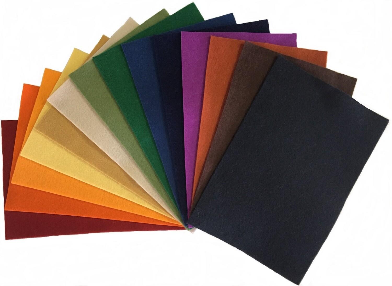 National Nonwovens 100% Wool Craft Felt: 14 Colors