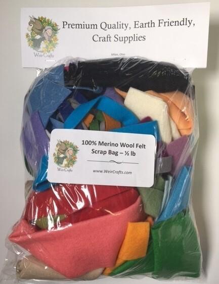 100% Merino Wool Scrap Bag - Half Pound