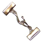 Flat Braid Hook and Eye Clasp Set -- $3.95