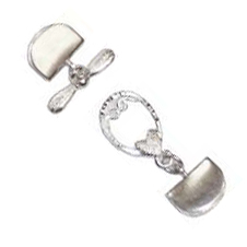 Sterling Silver Flat Braid Floral Clasp-- $12.95 - $14.95