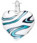 SALE! Pendant- Blue Heart (42mm) - $2.29