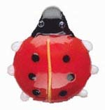SALE! Blown Glass  Pendant - Ladybug (38mm) - $2.29