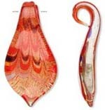 SALE! Blown Glass  Pendant - Red Spoon (65mm) - $2.75