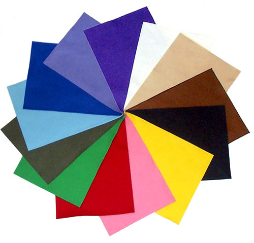 100% Wool Craft Felt: 13 Basic Colors