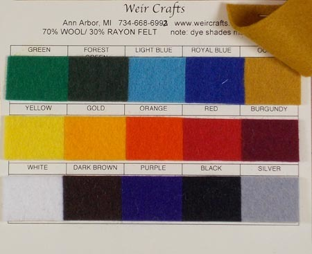 70% Wool Swatch Card