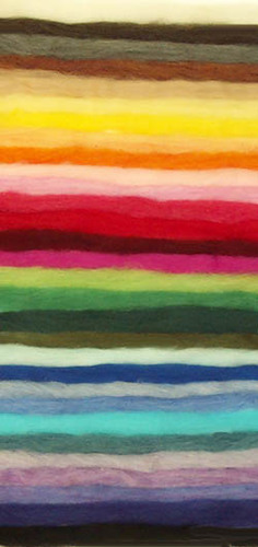 EcoSoft Wool Roving -- All 30 Colors