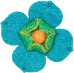 Wool Felt Flower -- Dogwood