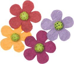 Wool Felt Flower -- Daisies
