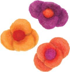 Wool Felt Flower -- Petal Flowers