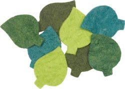 Wool Felt Flower -- Felt Leaves