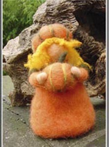 Needle Felted Pumpkin Doll Kit