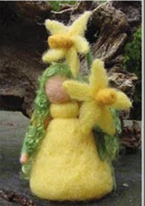 Needle Felted Daffodil Doll Kit