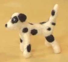 YouTube Needle Felted Dalmatian Materials Pack