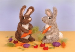 Needle Felted Rabbits Kit