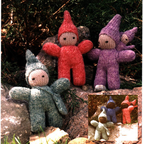 Knitted Trio of Pixies Kit or Pattern