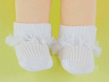 Doll Socks: Lace Trimmed anklets