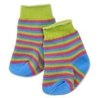 Doll Socks: Blue/Green/Red Striped Socks