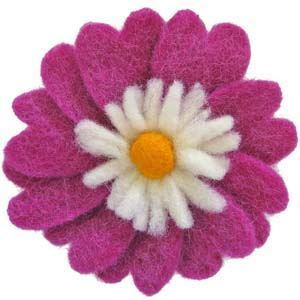 Wool Felt Flower -- Heart Flower