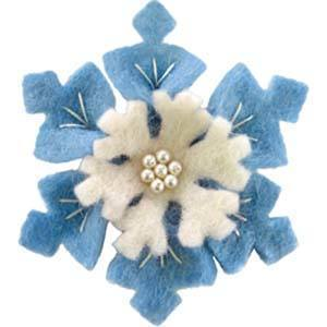 Wool Felt Flower -- Snow Flower