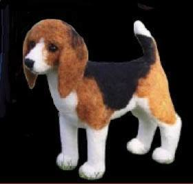Needle Felted Beagle Kit