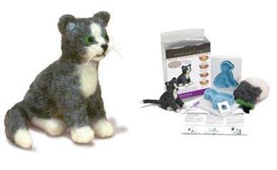 Needle Felted Cat Kit