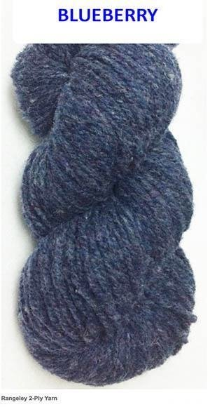 SALE: Worsted 2 ply  Homespun Wool Yarn -- Blueberry