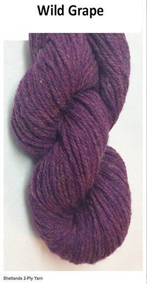 CLOSEOUT --  ONE POUND CONE -- Worsted 2 ply  Homespun Wool Yarn -- Wild Grape