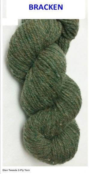 CLOSEOUT --  ONE POUND CONE -- Worsted 2 ply  Homespun Wool Yarn -- Bracken