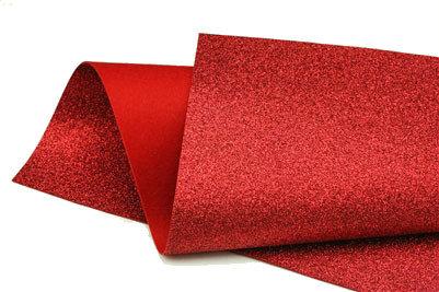 Glitter Felt - Red