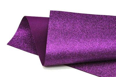 Glitter Felt - Purple