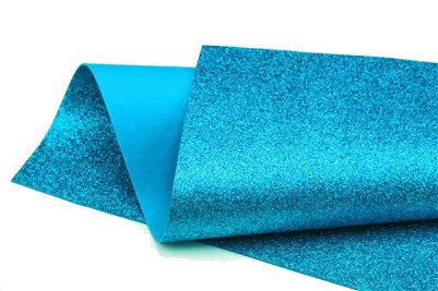 Glitter Felt - Turquoise