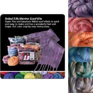 Silk/Wool Felted Scarf Kit