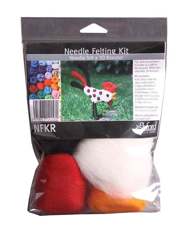 Needle Felted Rooster Kit