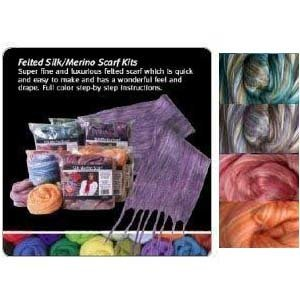 Silk/Wool Felted Scarf Kit