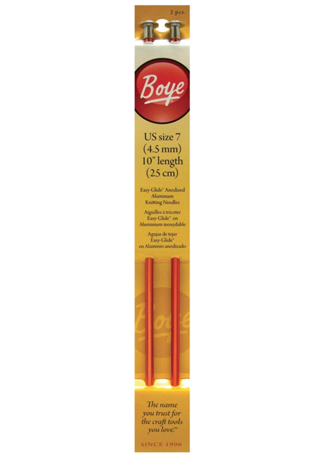 SALE 30% off: Boye 9-Inch Single Point Aluminum Knitting Needles, size 7