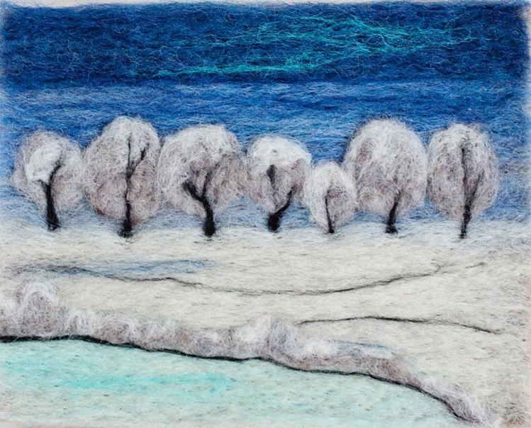 Winter Snow Needle Felting Kit