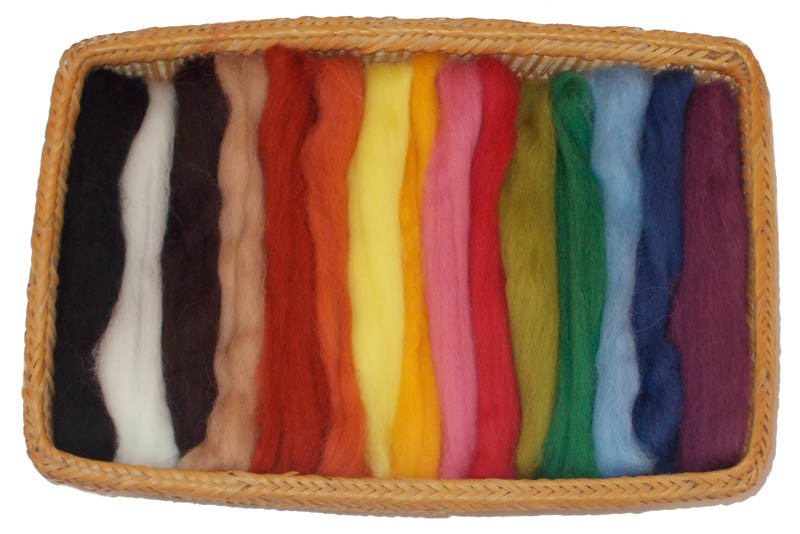 NZ Corriedale Wool Roving -- 15 Nature Colors