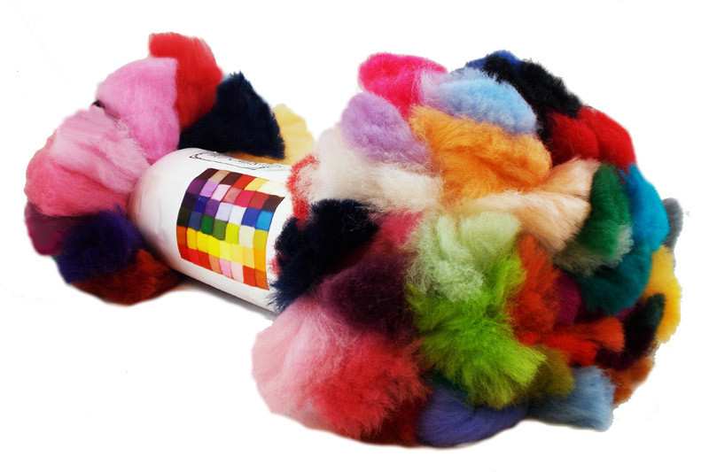 NZ Corriedale Wool Roving -- 46 Colors Bulk Rolled