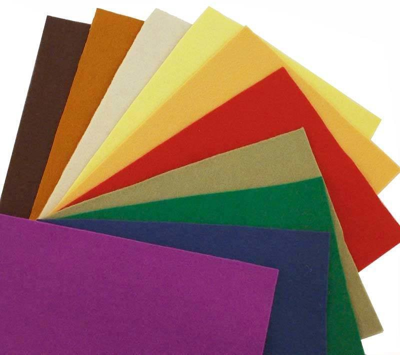 National Nonwovens 100% Wool Craft Felt: 11 Colors