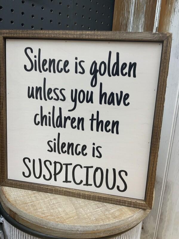 10x10 Silence is Golden