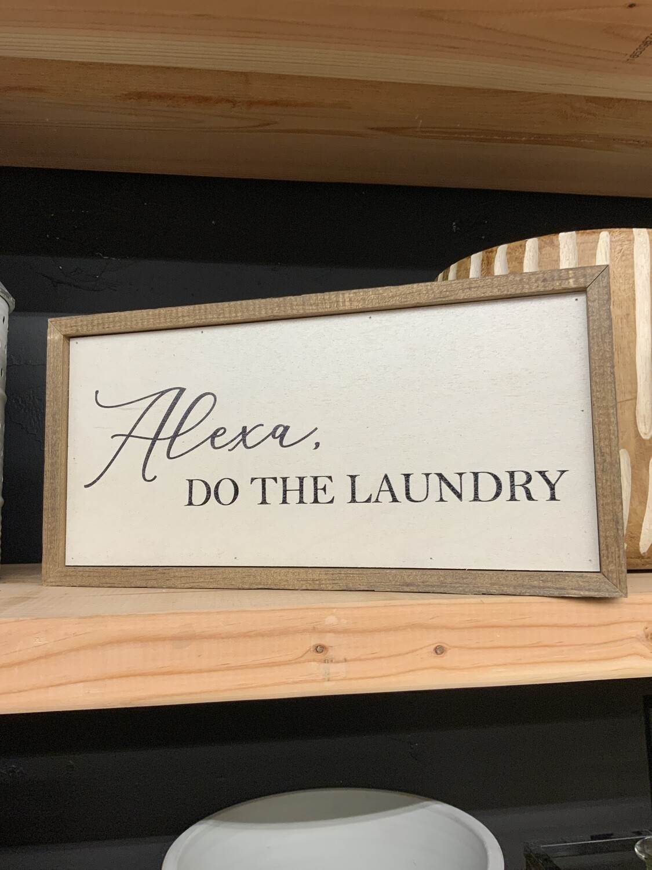 12x6 Alexa laundry