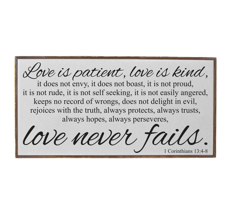 32x16 Love is Patient