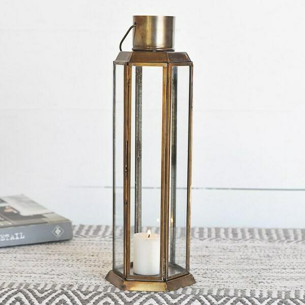 """13"""" gold lantern"""