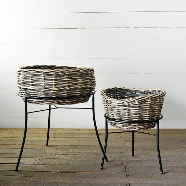 Gray plant stand