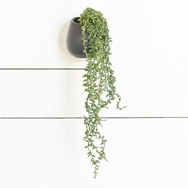 Hanging succulent pot-gray