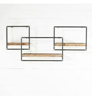 Set of 3 house shelves